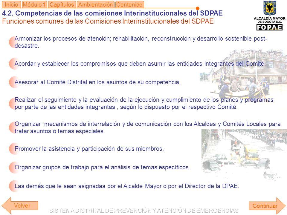 4.2. Competencias de las comisiones Interinstitucionales del SDPAE