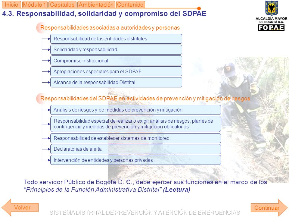 4.3. Responsabilidad, solidaridad y compromiso del SDPAE