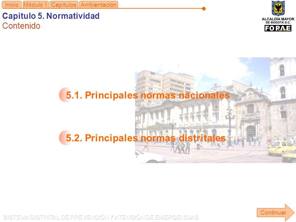 5.1. Principales normas nacionales