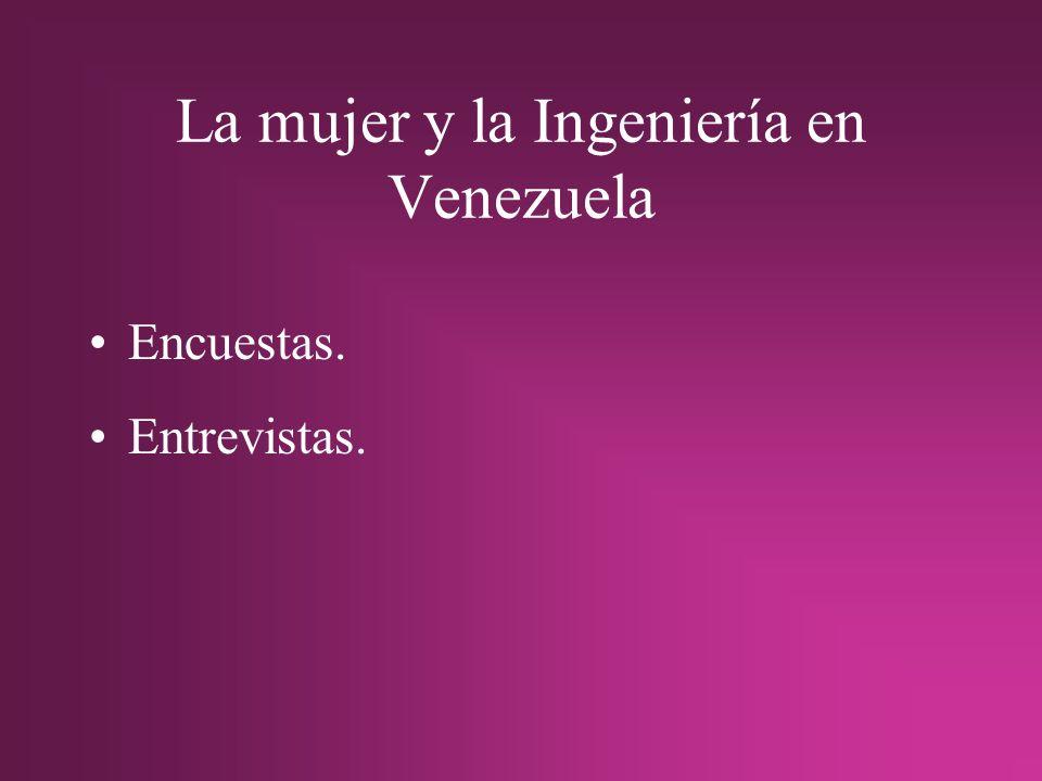 La mujer y la Ingeniería en Venezuela