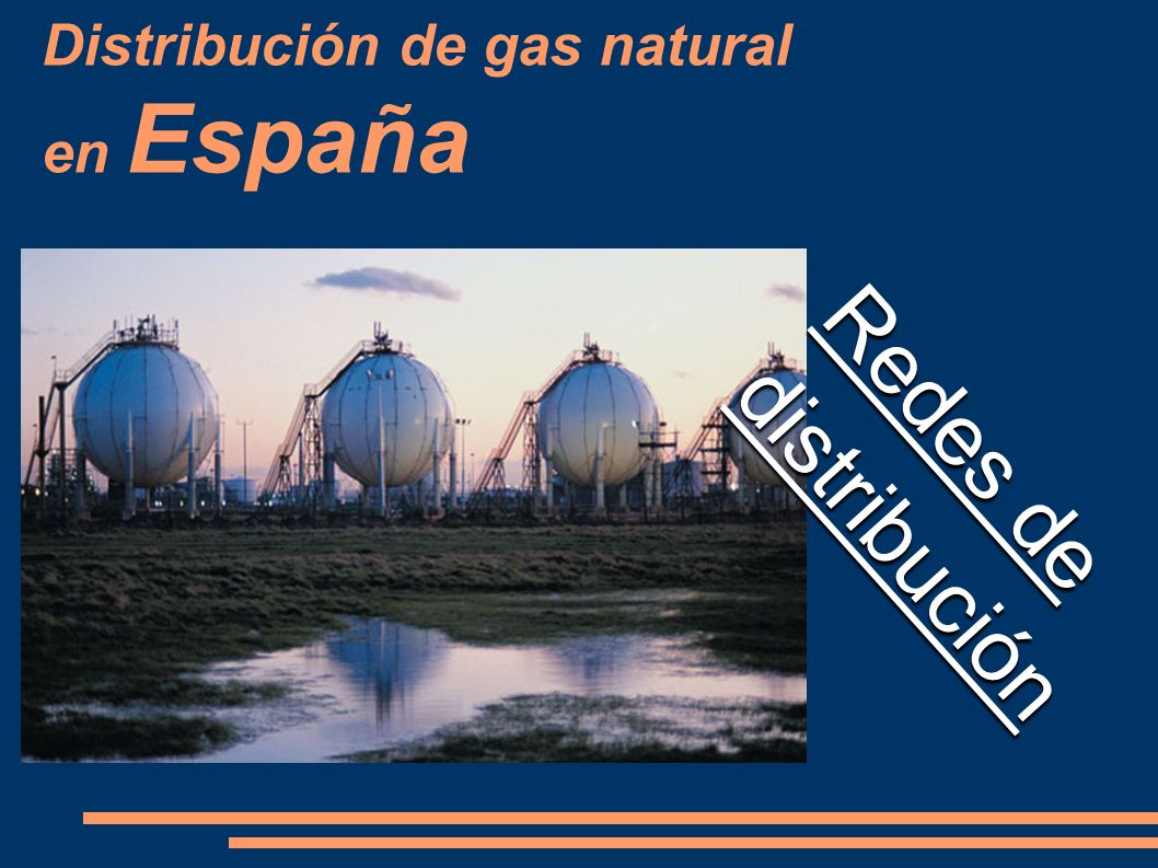 Distribución de gas natural en España