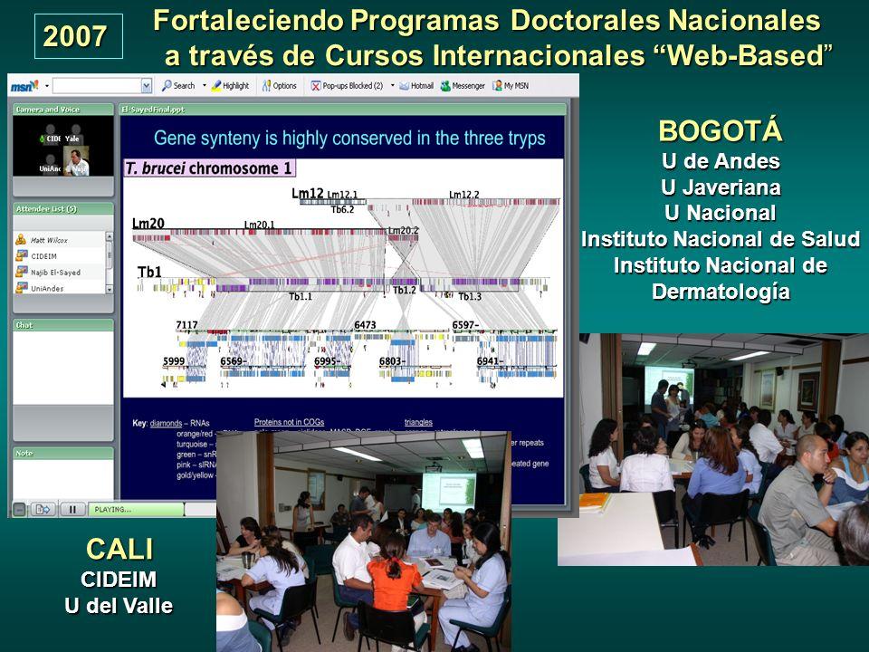 Fortaleciendo Programas Doctorales Nacionales BOGOTÁ CALI