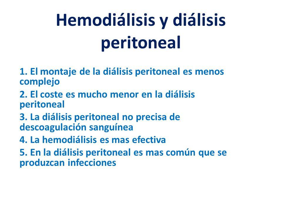 Hemodiálisis y diálisis peritoneal