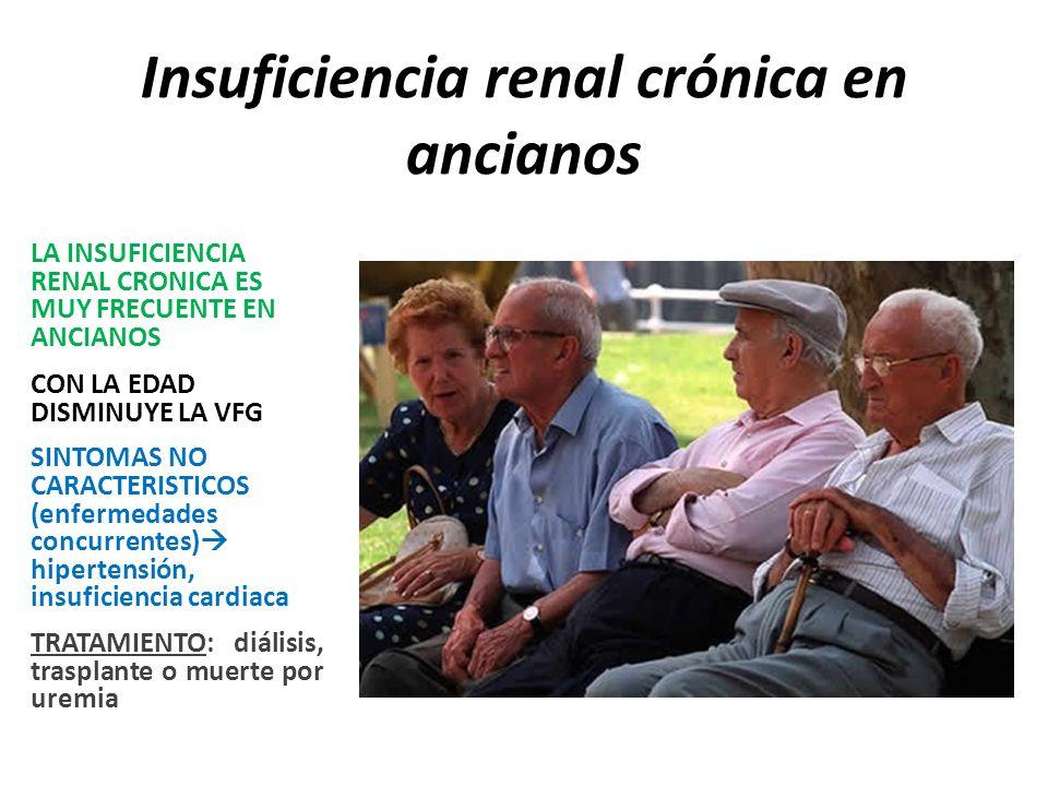 Insuficiencia renal crónica en ancianos