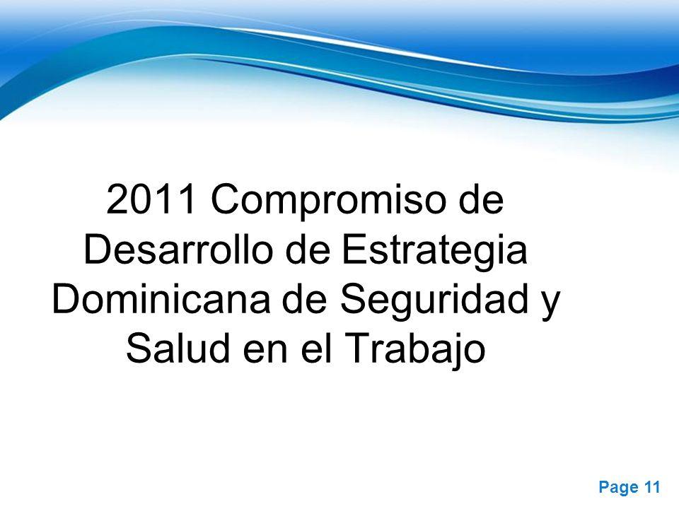 2011 Compromiso de Desarrollo de Estrategia Dominicana de Seguridad y Salud en el Trabajo