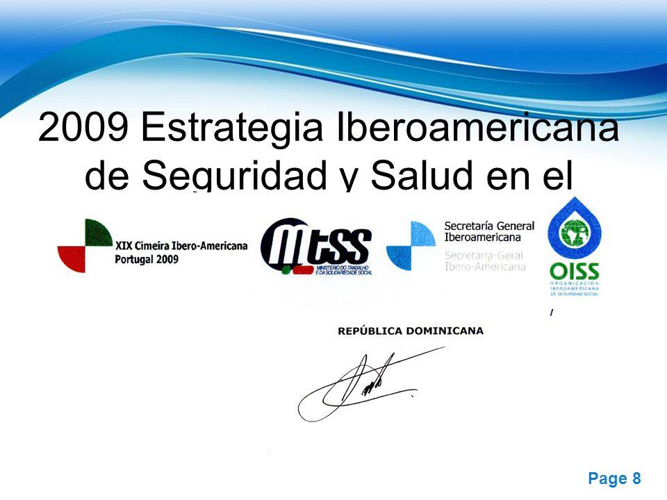 2009 Estrategia Iberoamericana de Seguridad y Salud en el Trabajo