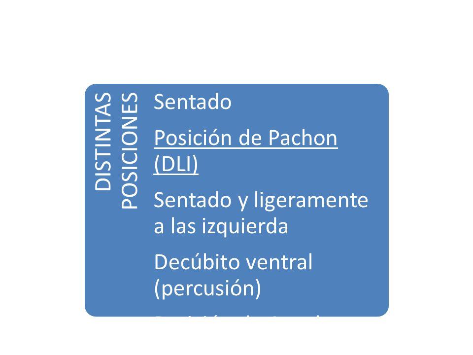 Posición de Pachon (DLI) Sentado y ligeramente a las izquierda
