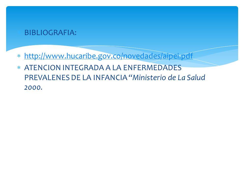 BIBLIOGRAFIA: http://www.hucaribe.gov.co/novedades/aipei.pdf.