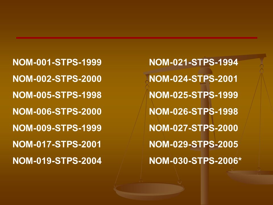 NOM-001-STPS-1999 NOM-021-STPS-1994