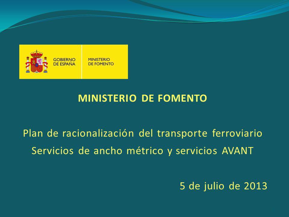 Plan de racionalización del transporte ferroviario