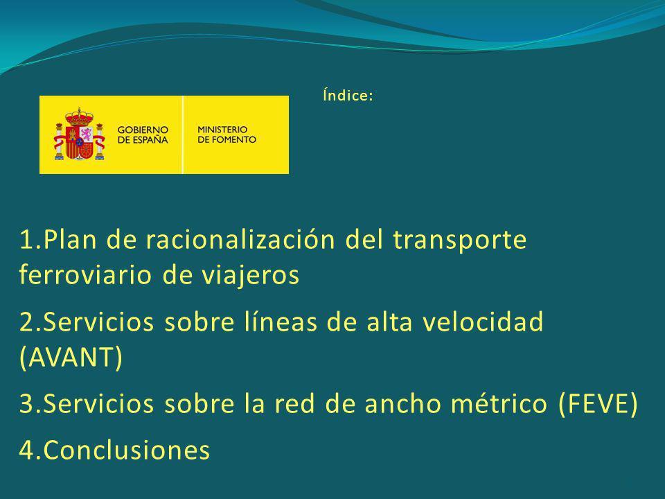 Plan de racionalización del transporte ferroviario de viajeros