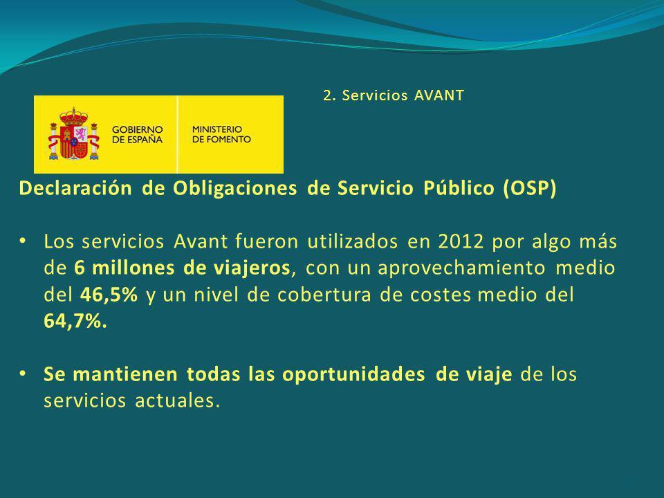 Declaración de Obligaciones de Servicio Público (OSP)
