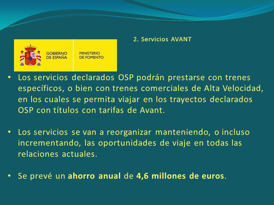 Se prevé un ahorro anual de 4,6 millones de euros.