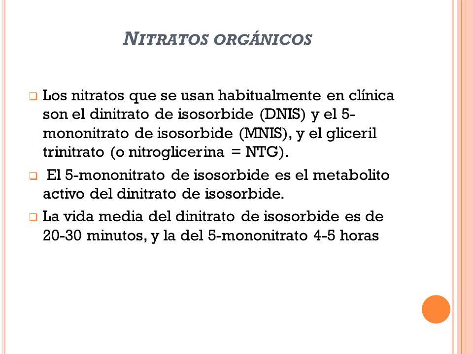 Nitratos orgánicos
