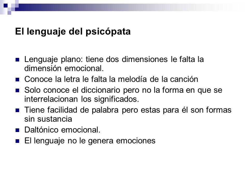 El lenguaje del psicópata
