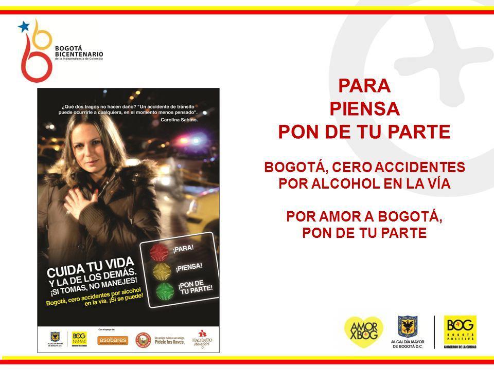 BOGOTÁ, CERO ACCIDENTES POR ALCOHOL EN LA VÍA