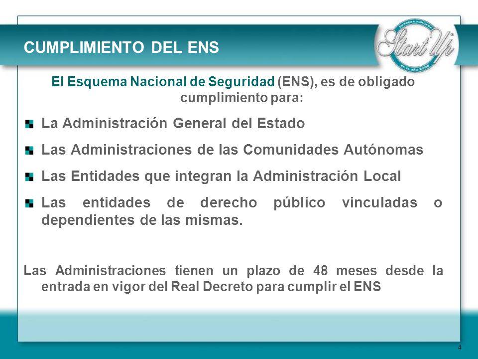 CUMPLIMIENTO DEL ENS La Administración General del Estado