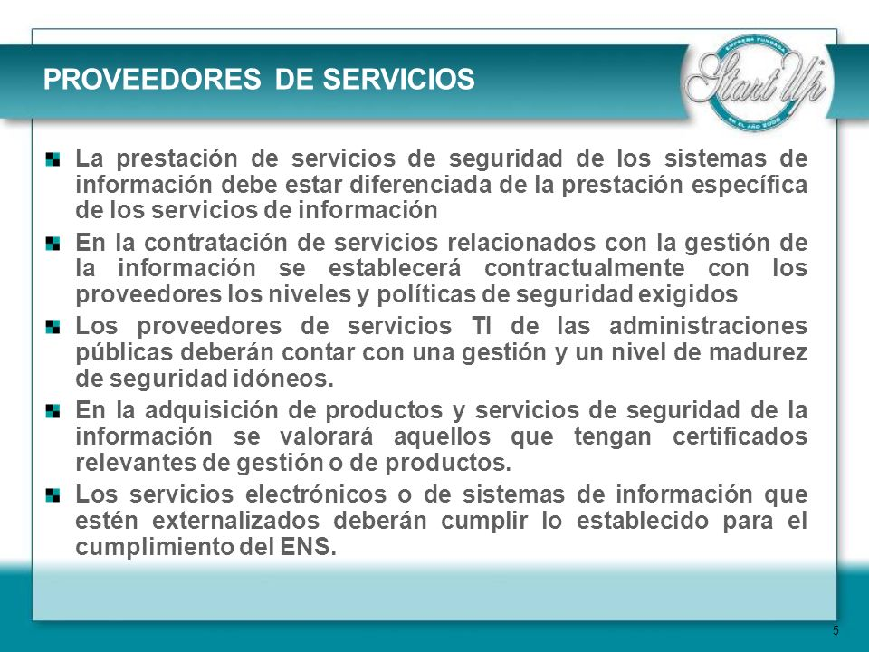 PROVEEDORES DE SERVICIOS