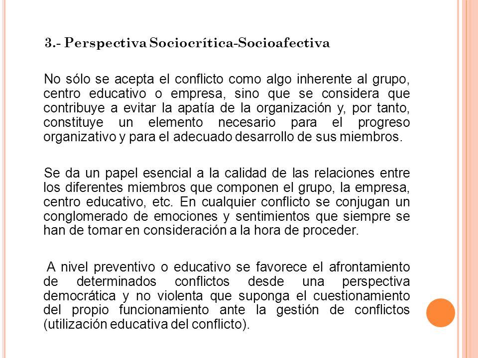 3.- Perspectiva Sociocrítica-Socioafectiva