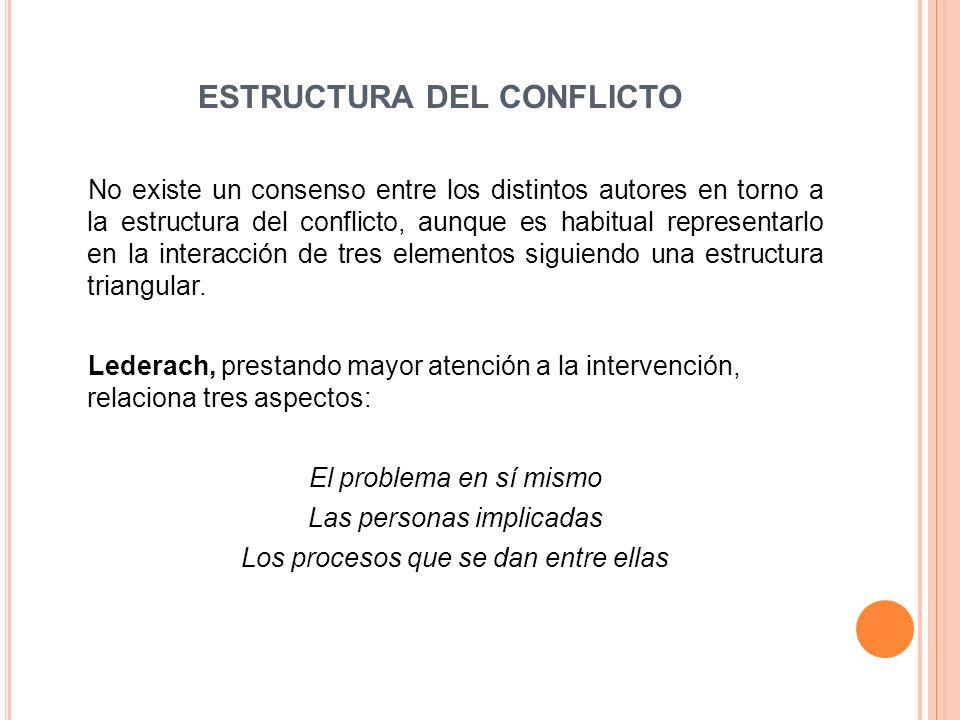 ESTRUCTURA DEL CONFLICTO