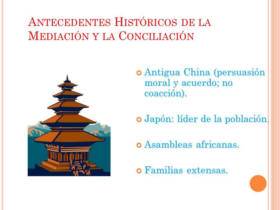 Antecedentes Históricos de la Mediación y la Conciliación