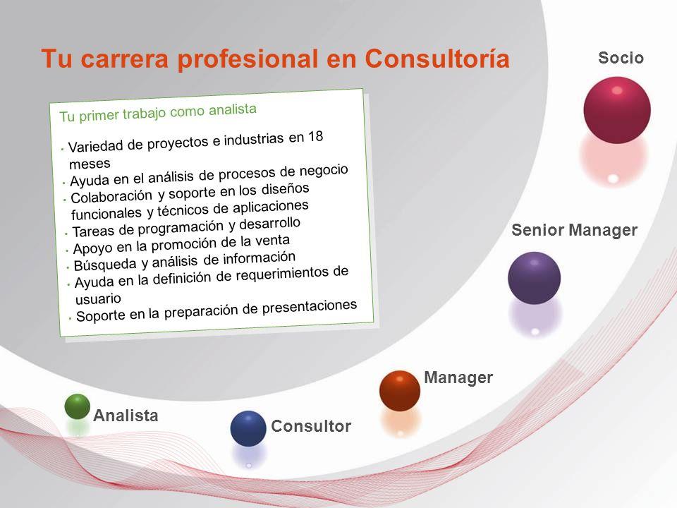 Tu carrera profesional en Consultoría