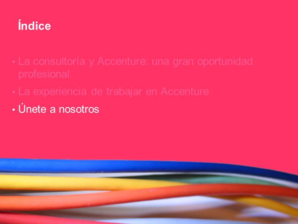 Índice La consultoría y Accenture: una gran oportunidad profesional
