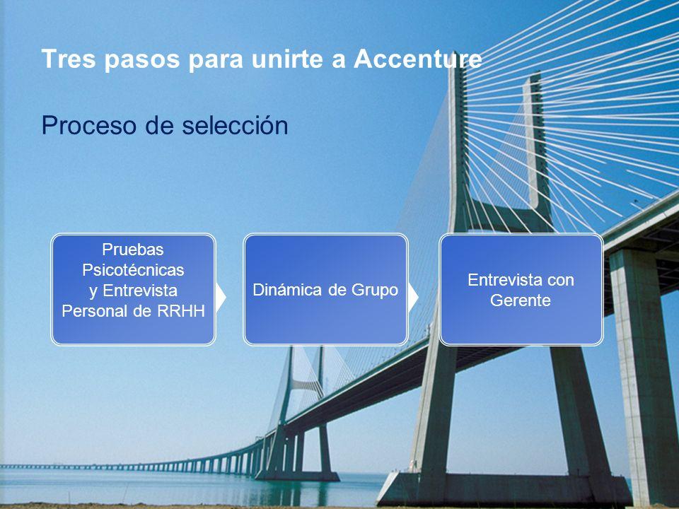 Tres pasos para unirte a Accenture