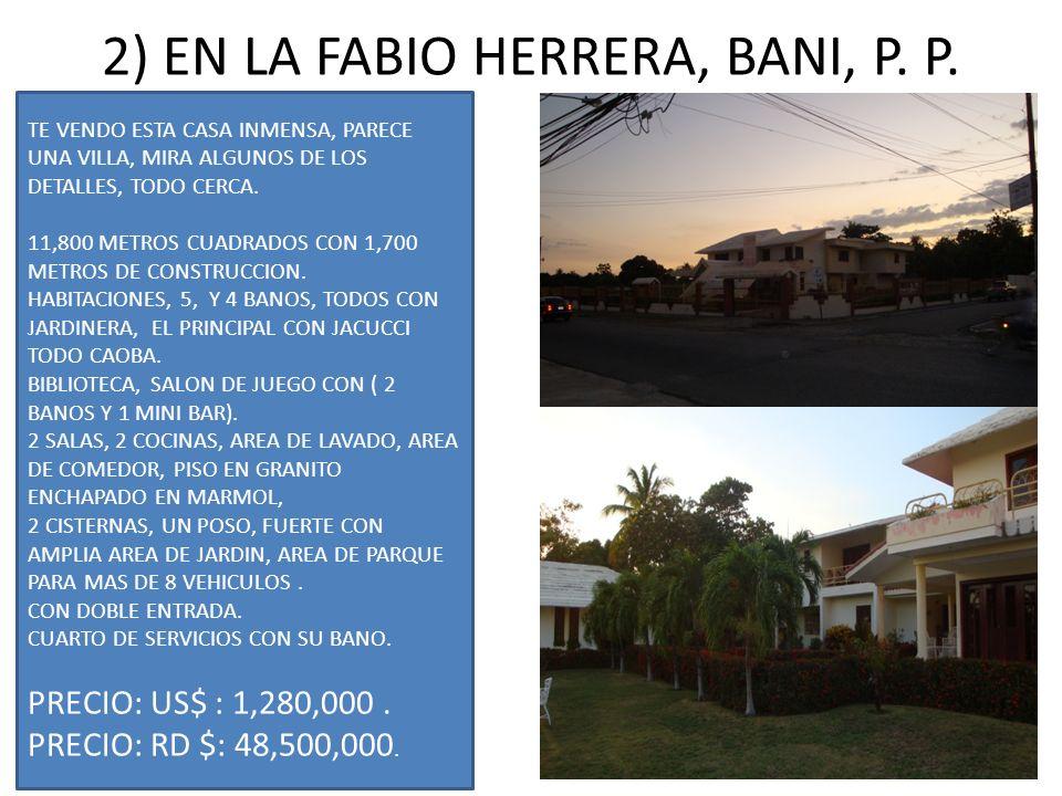 2) EN LA FABIO HERRERA, BANI, P. P.