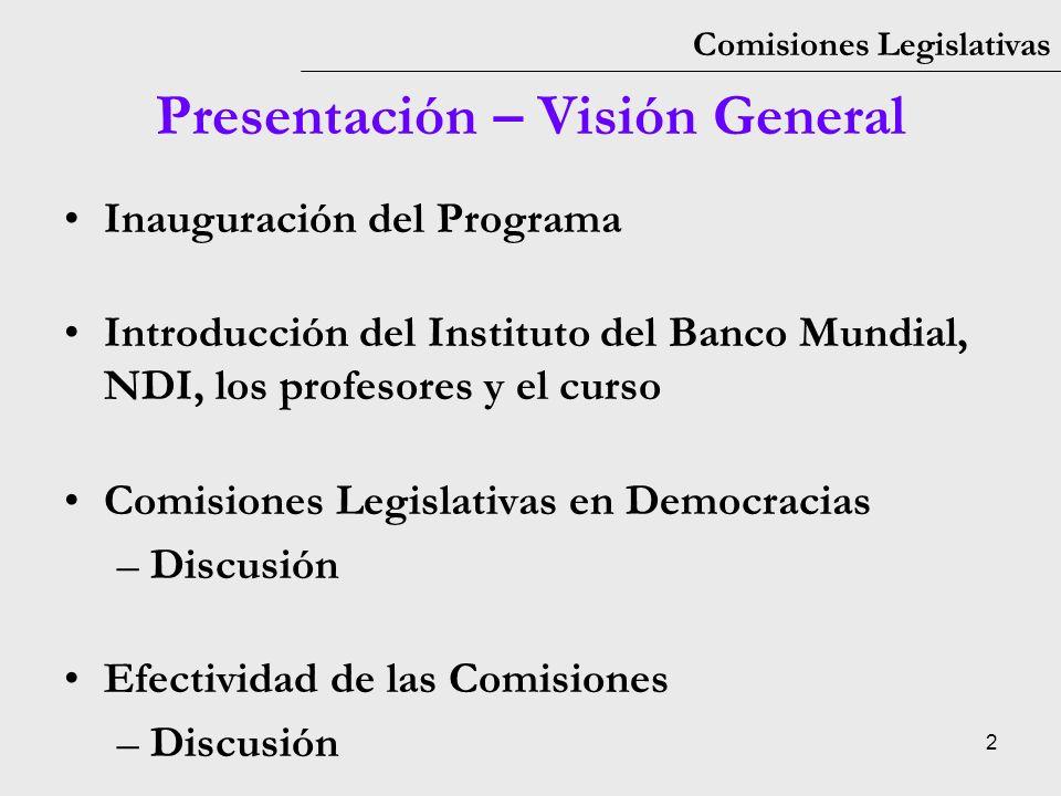 Presentación – Visión General