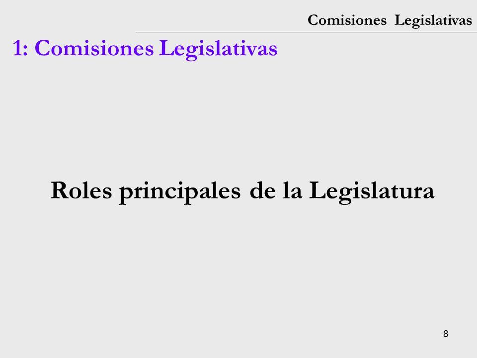 Roles principales de la Legislatura