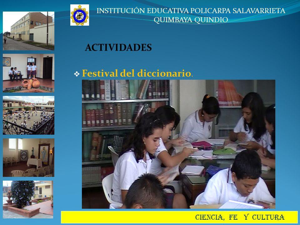ACTIVIDADES Festival del diccionario.