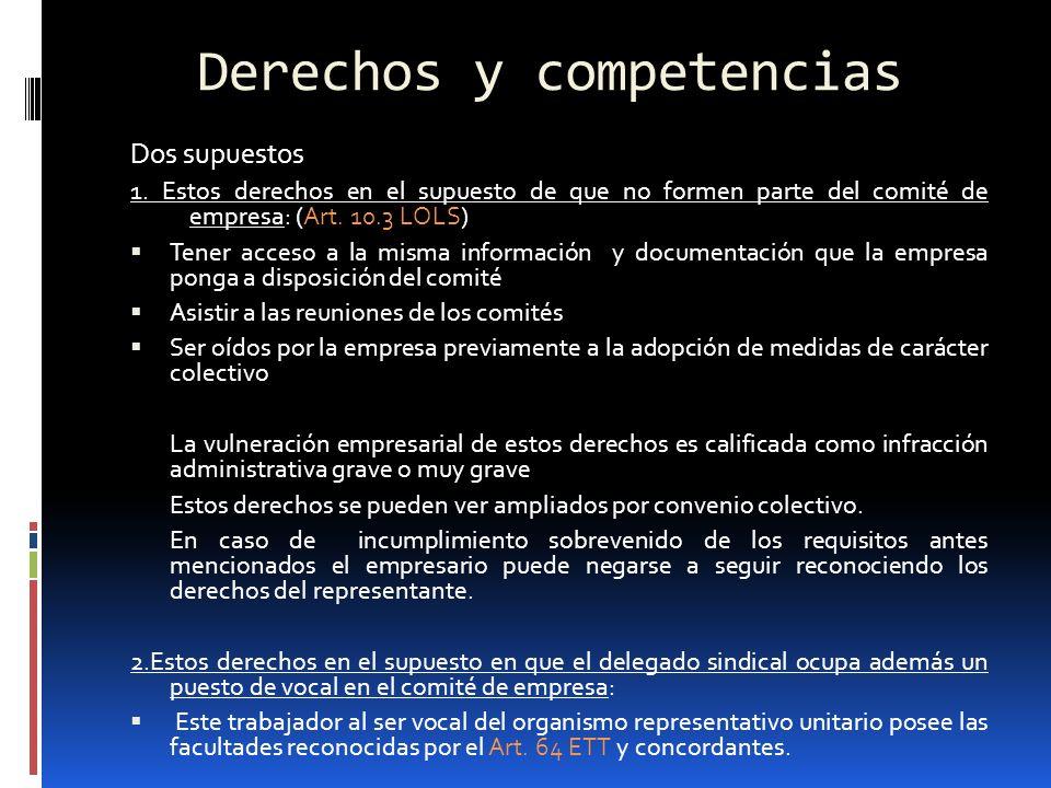 Derechos y competencias