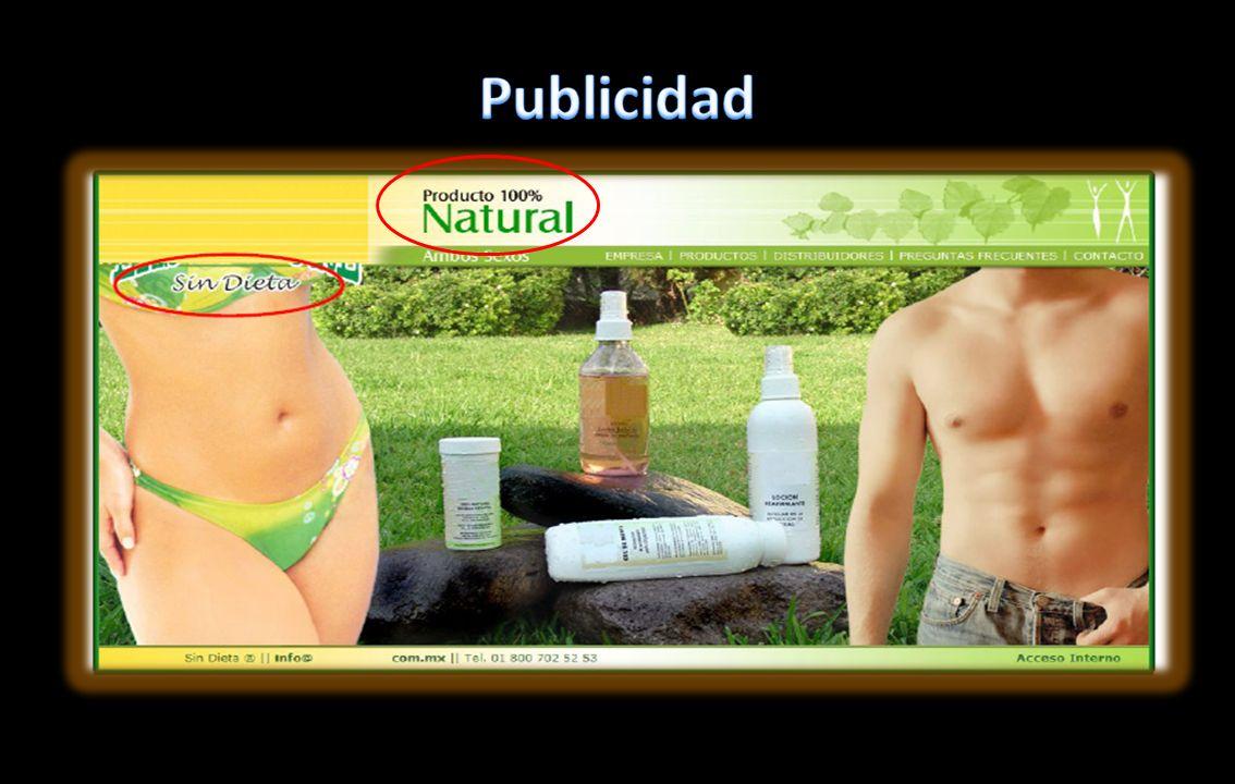 Publicidad Publicidad con nulo sustento científico