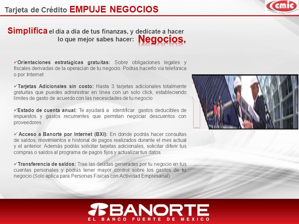 Tarjeta de Crédito EMPUJE NEGOCIOS
