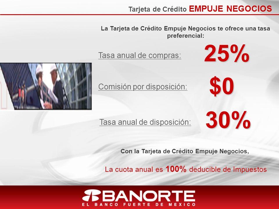 25% $0 30% Tasa anual de compras: Comisión por disposición: