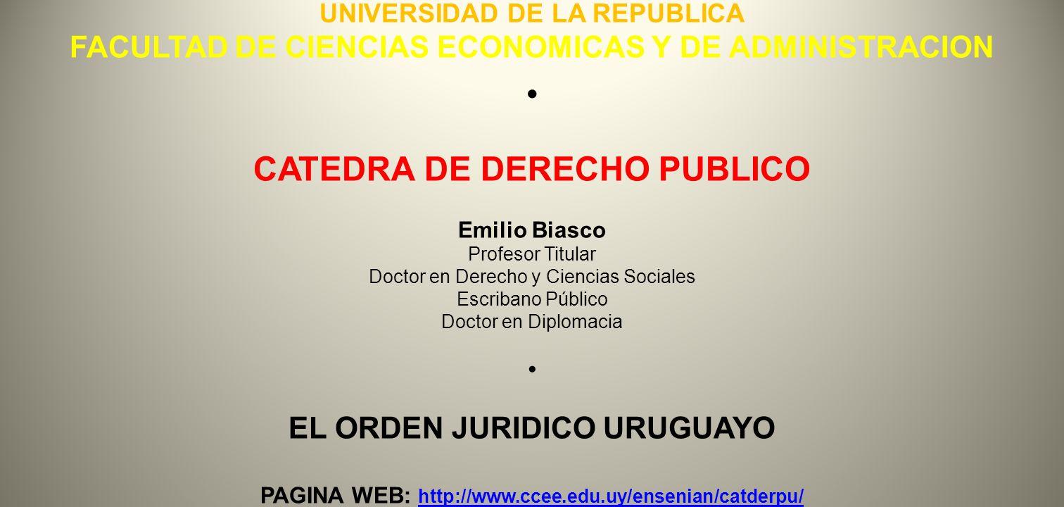 CATEDRA DE DERECHO PUBLICO