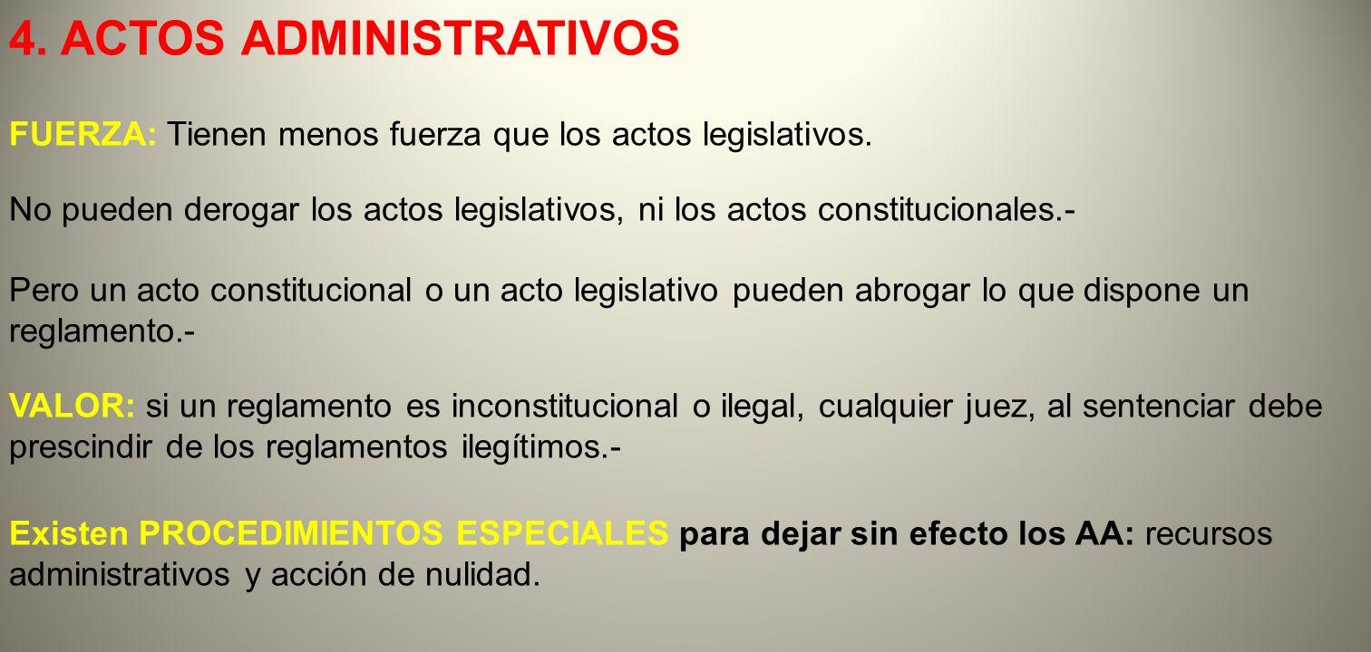 4. ACTOS ADMINISTRATIVOS