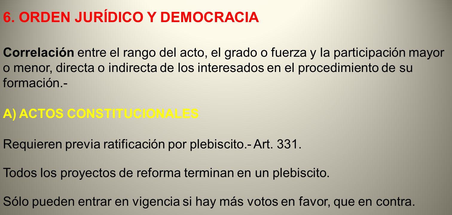 6. ORDEN JURÍDICO Y DEMOCRACIA