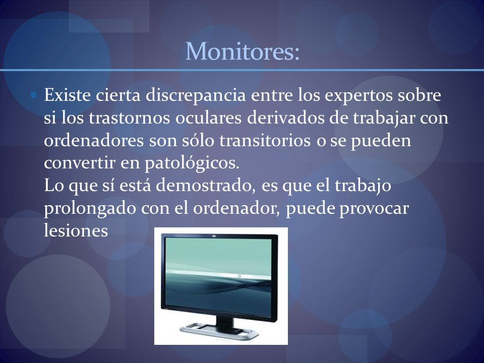Monitores: