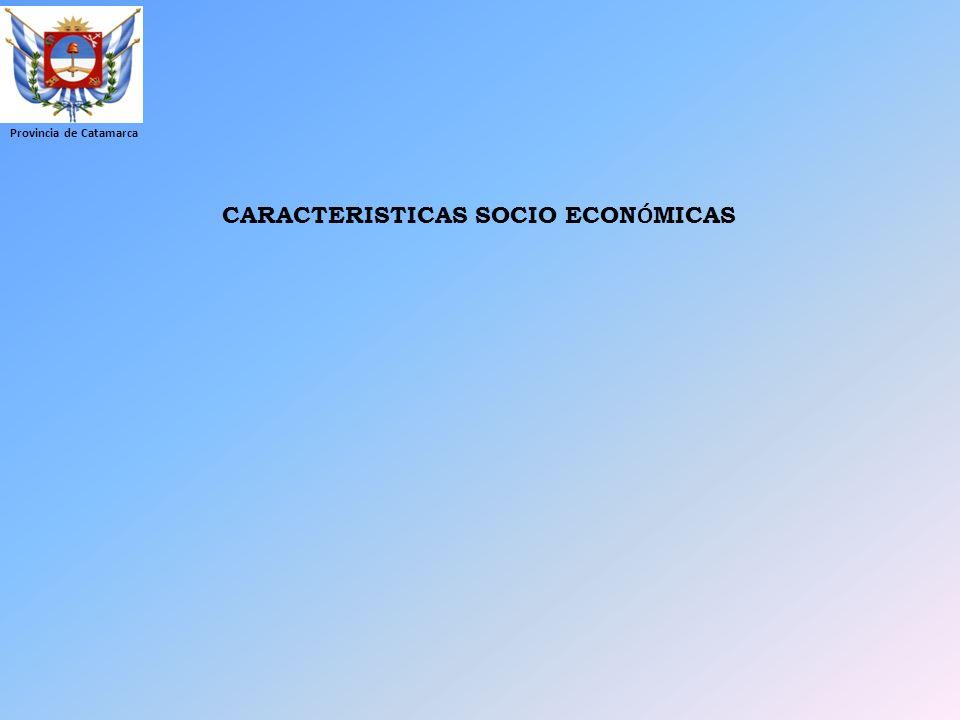 CARACTERISTICAS SOCIO ECONÓMICAS