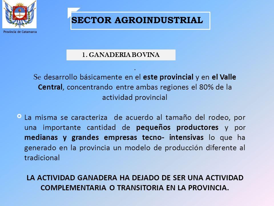 SECTOR AGROINDUSTRIAL Provincia de Catamarca