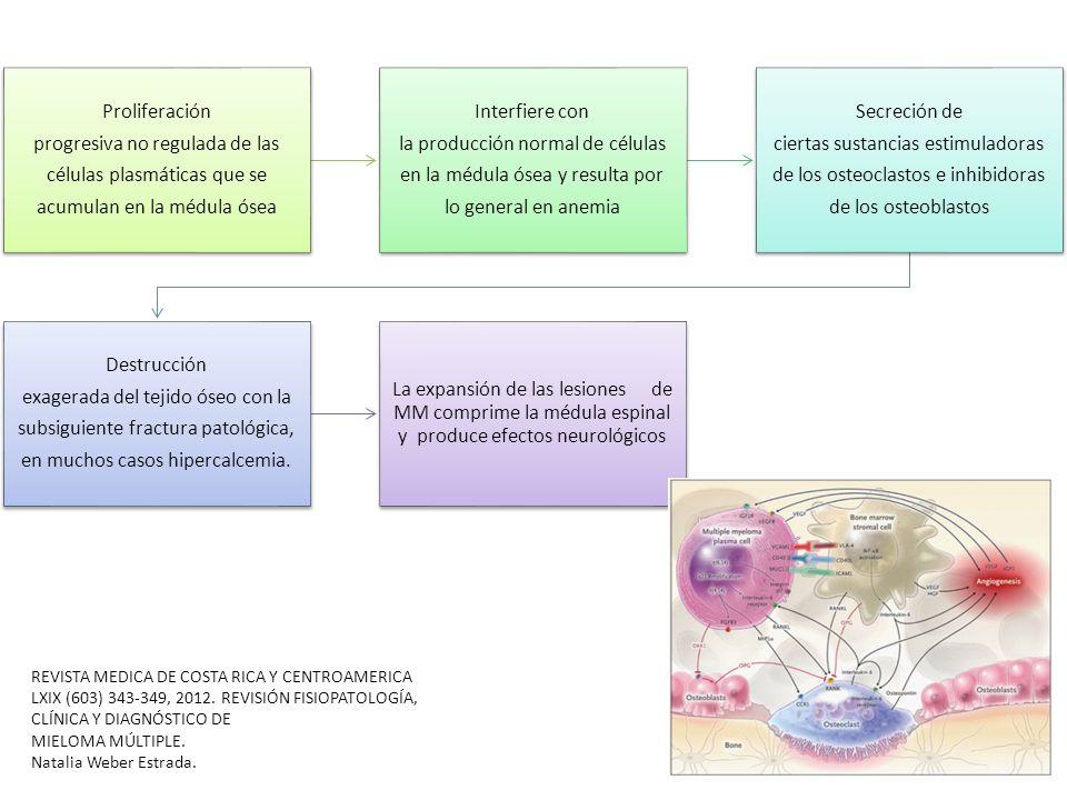 progresiva no regulada de las células plasmáticas que se