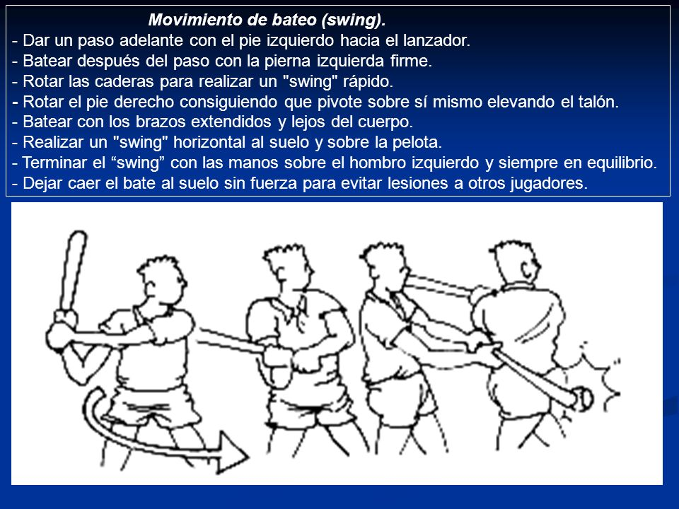 Movimiento de bateo (swing).