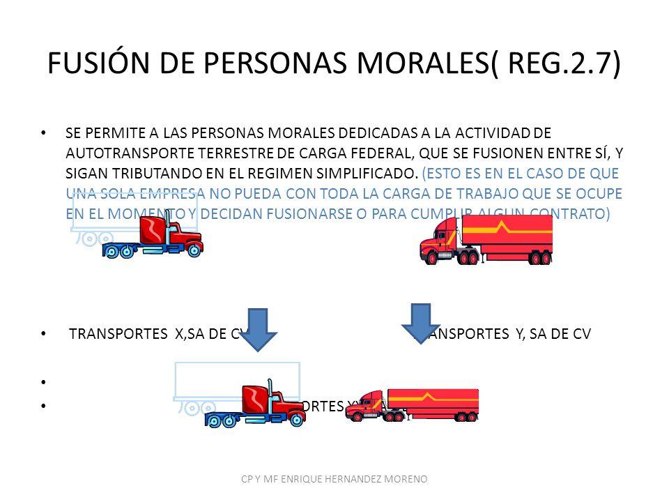 FUSIÓN DE PERSONAS MORALES( REG.2.7)