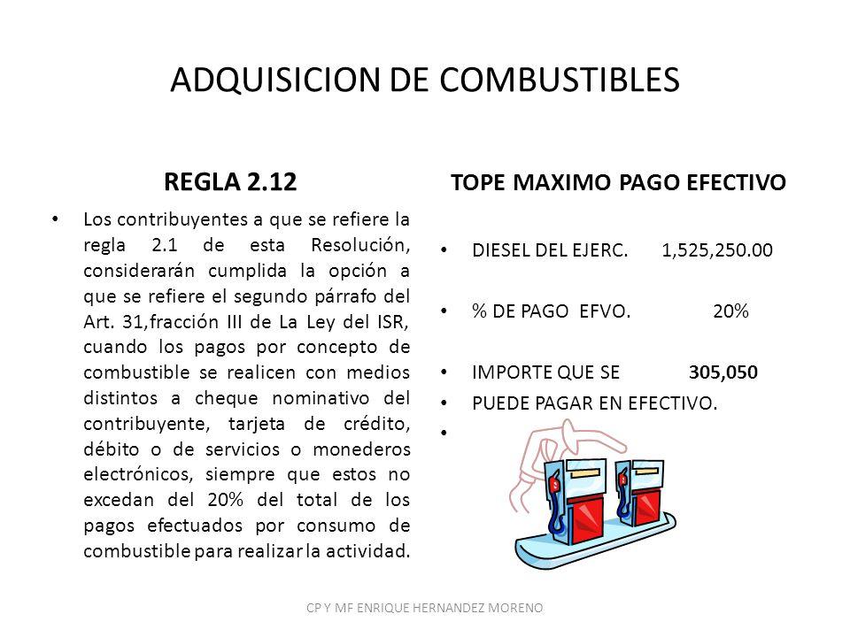 ADQUISICION DE COMBUSTIBLES
