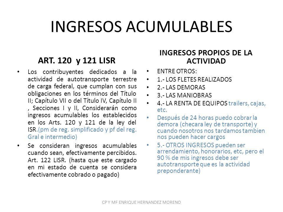 INGRESOS PROPIOS DE LA ACTIVIDAD