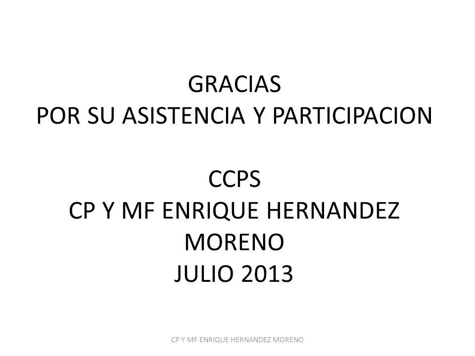 CP Y MF ENRIQUE HERNANDEZ MORENO