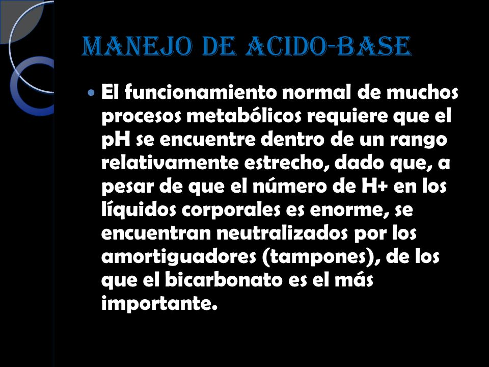 MANEJO DE ACIDO-BASE