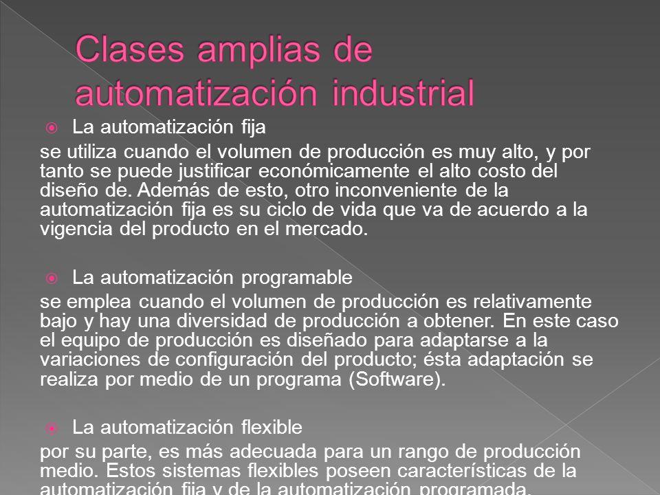 Clases amplias de automatización industrial
